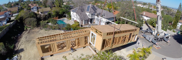 Modular Project in San Diego Captured by Drone